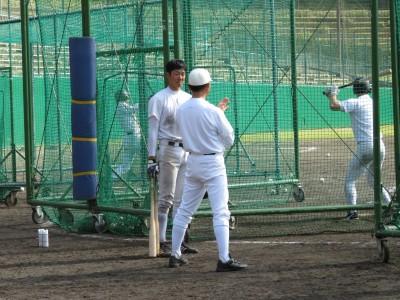 5打撃練習石井